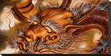 Dragon Bedruckte aufgespannte Leinwand von Manuel Valenzuela