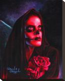 Red Mary Bedruckte aufgespannte Leinwand von Manuel Valenzuela