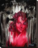 Rote Frau Bedruckte aufgespannte Leinwand von Manuel Valenzuela