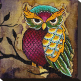 Owl Stretched Canvas Print by Brittany Morgan