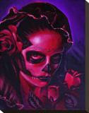 Day of Dead Mary Bedruckte aufgespannte Leinwand von Manuel Valenzuela