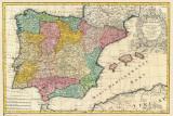 Spain Old Map Billeder