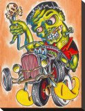 Franken Hot Rod Stretched Canvas Print by Sid Stankovits