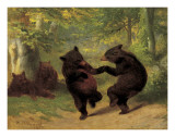 Dancing Bears Plakater af William Holbrook Beard