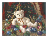Osito navideño Pósters por Janet Kruskamp
