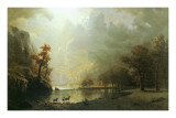 Sierra Nevada Morning Plakater af Albert Bierstadt