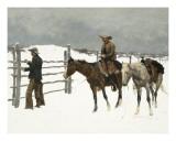 The Fall of The Cowboy Poster von Frederic Sackrider Remington