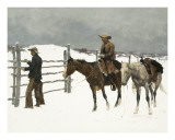 The Fall of The Cowboy Poster by Frederic Sackrider Remington