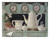 Kaffeezeit Kunstdruck von Janet Kruskamp