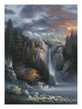 Misty Falls Poster di James Lee