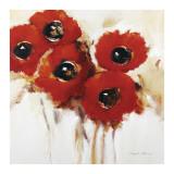 Crimson Poppies II Affischer av Natasha Barnes