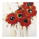 Crimson Poppies I Konst av Natasha Barnes