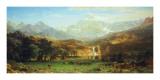 Les montagnes Rocheuses, Lander's peak Affiche par Albert Bierstadt
