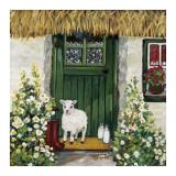 Green Door Poster von Suzanne Etienne