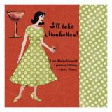 Manhattan Lady Poster von Lisa Ven Vertloh