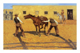 His First Lesson Poster by Frederic Sackrider Remington