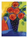Spring Blooms In Blue Vase I Affischer av Natasha Barnes