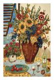 Blumen am Fenster Poster von Suzanne Etienne