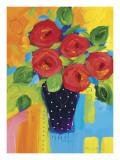 Spring Blooms In Blue Vase II Affischer av Natasha Barnes