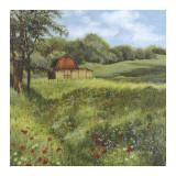 Flower Field Poster di Lene Alston Casey