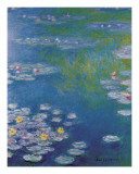 Waterlilies at Giverny Posters by Claude Monet