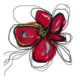 Butterfly Red Affiches par Jan Weiss