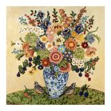 Quail Floral Poster von Suzanne Etienne