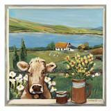 Cow in Window Poster von Suzanne Etienne