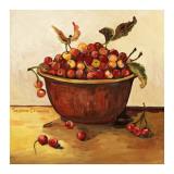 Schale mit Kirschen Poster von Suzanne Etienne