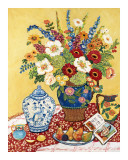 Birnen und Blumen Kunstdrucke von Suzanne Etienne