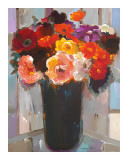 Vibrant Bouquet Print by Hooshang Khorasani