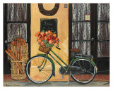 Bicycle with Flowers Posters by Suzanne Etienne