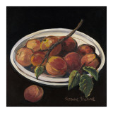 Bowl of Peaches Prints by Suzanne Etienne