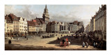 Dresden, the Old Market from Castle Street Poster par Bernardo Bellotto