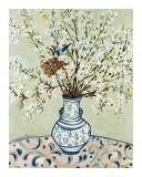 Blue and White Vase with Bird Kunstdrucke von Suzanne Etienne