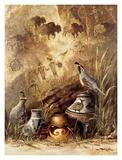 Pots and Quails Kunst von Alma Lee