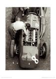 Ferrari-Mechaniker, Großer Preis von Frankreich, 1954 Giclée-Druck von Jesse Alexander