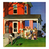 """""""Family Portrait on the Fourth"""", July 5, 1952 Giclee Print by John Falter"""