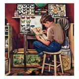 """""""The Collector"""", August 11, 1951 Reproduction procédé giclée par Stevan Dohanos"""