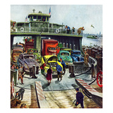 """Hudson Ferry"", February 4, 1950 Gicléetryck av Thornton Utz"