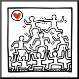One Man Show (details) Mounted Print by Keith Haring