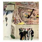 """Sidewalk Sideshow"", November 21, 1959 Gicléetryck av Thornton Utz"