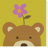 Peek-a-Boo VI, Bear Bedruckte aufgespannte Leinwand von Yuko Lau