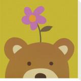 Peek-a-Boo VI, Bear Reproducción de lámina sobre lienzo por Yuko Lau