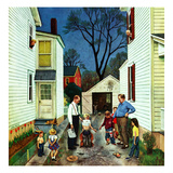"""""""Shaking Hands after the Fight"""", May 5, 1951 Giclee Print by John Falter"""