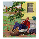 """Shade Tree"", April 12, 1958 Giclee Print by Richard Sargent"