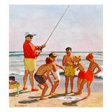 """""""Big Pole Little Fish"""", September 1, 1956 Giclee-trykk av Richard Sargent"""