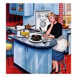"""First Cake"", May 21, 1955 Lámina giclée por Stevan Dohanos"