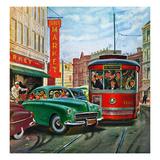 """Parallel Parking"", April 1, 1950 Gicléetryck av Thornton Utz"