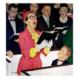 """""""Singing Praise"""", March 7, 1959 Giclée-tryk af Richard Sargent"""